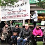 5. Mai 202: WüSL-Aktivistinnen am europäischen Protesttag der behinderten Menschen