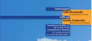 """Auszug des Plakates zum WüSL-Benefizkonzert """"Tastenzuspiel trifft auf"""" am 7. April 2019"""