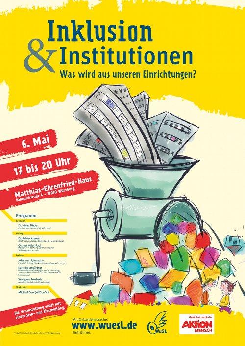 6. Mai 2015: Podiumsdiskussion - Inklusion und Institutionen, was wird aus unseren Einrichtungen?