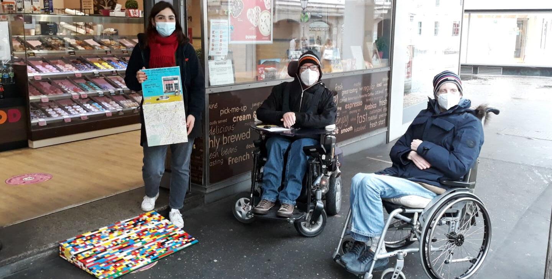 Legorampen Übergabe bei Dunkin Donuts am Dominikanerplatz